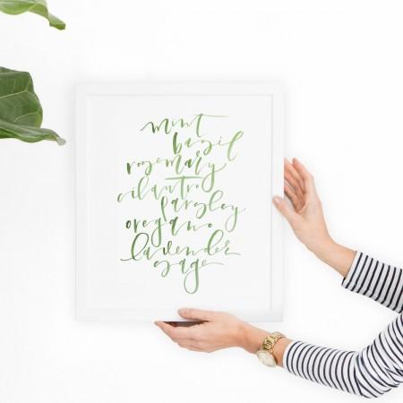 Herb Kitchen Print