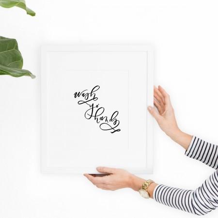 Wash Yo' Hands Print