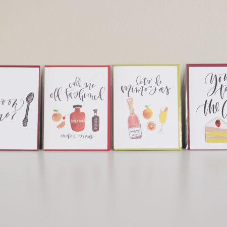 'Spoon Me' + 'Call Me Old Fashioned' + 'Let's Do Mimosas' + 'You Take the Cake' cards